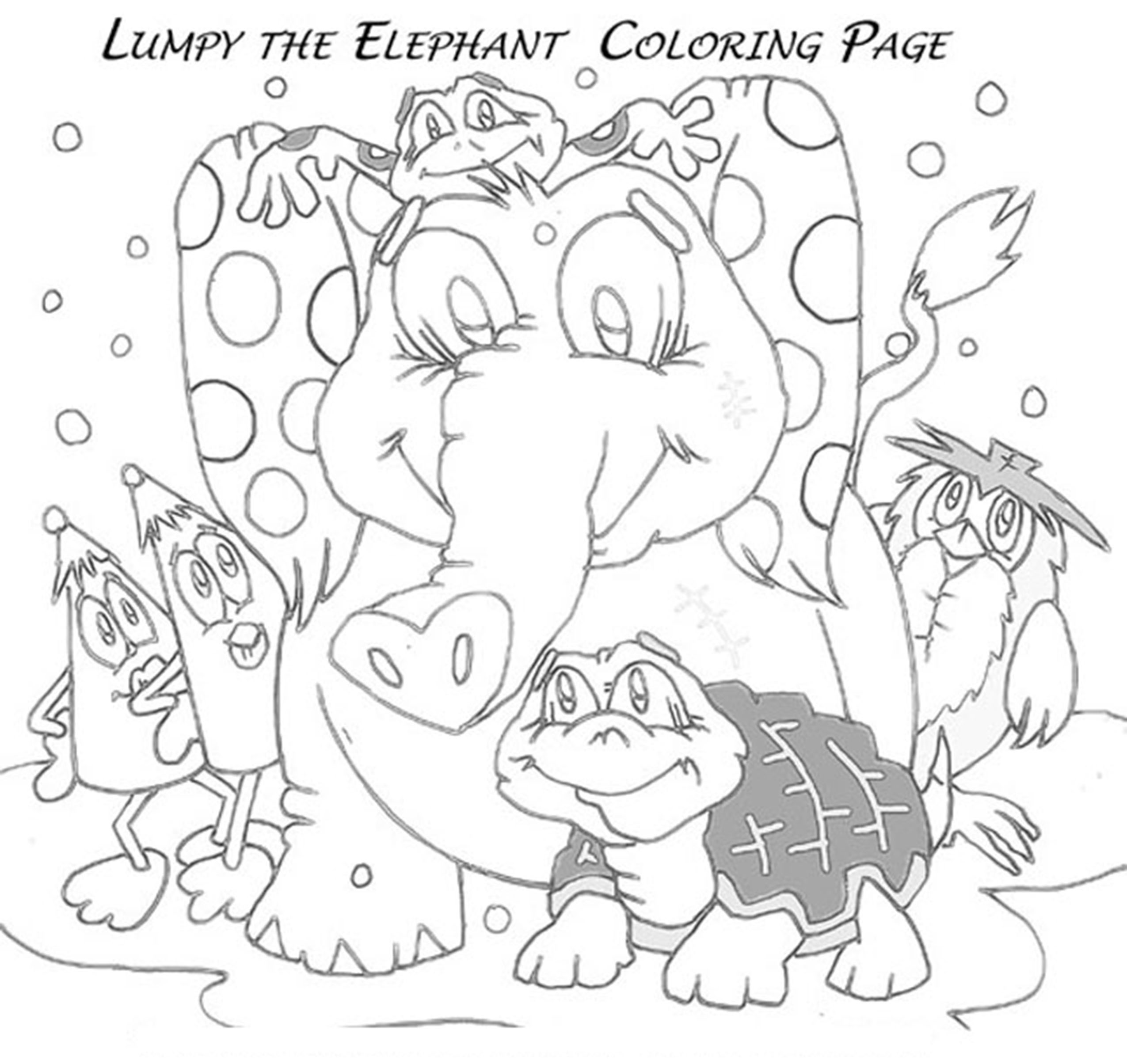 lumpy coloring pages - photo#33